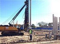 Surveying at Moffitt McKinley Clinic - Staking Piles