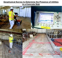 Geophysical Survey to Determine the Presence of Utilities in a Concrete Slab
