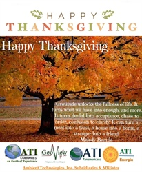 Happy Thanksgiving from Ambient Technologies & Subsidiaries