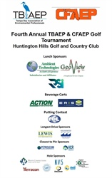 Ambient Technologies, Inc. and GeoView, Inc. were the Lunch Sponsors of the Fourth Annual TBAEP & CFAEP Golf Tournament